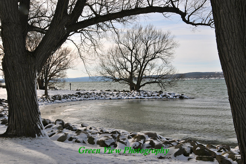 Winter calm on Canandaigua Lake