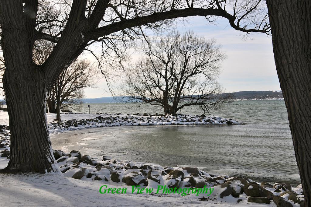 Winter calm on Canandaigua Lake