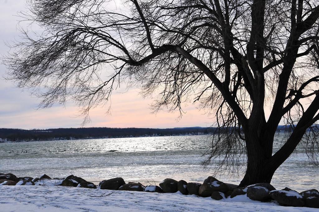 Beautiful sky on Canandaigua Lake