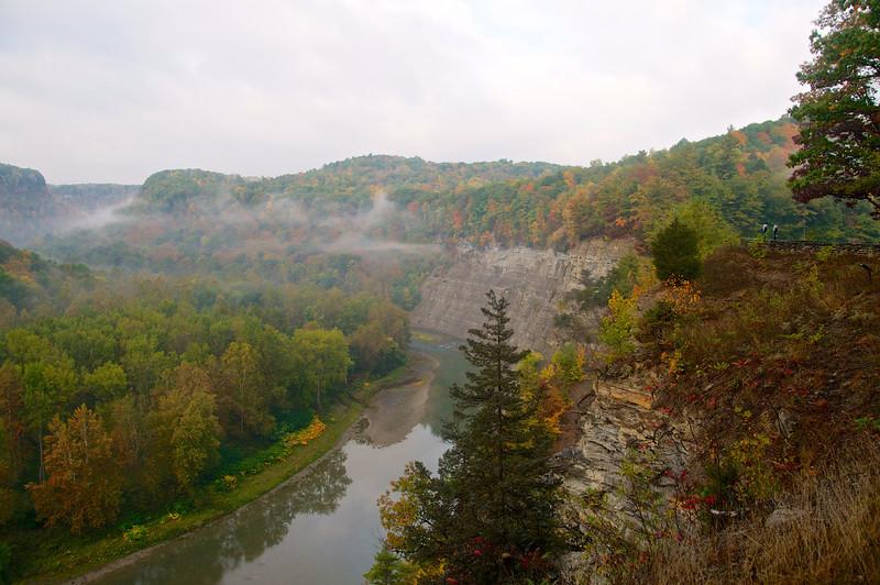 Misty autumn River
