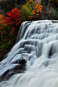 Ithaca falls in October