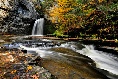 Eagle Cliff Falls in October.