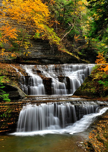 Cascading falls of Buttermilk Falls, Finger Lakes