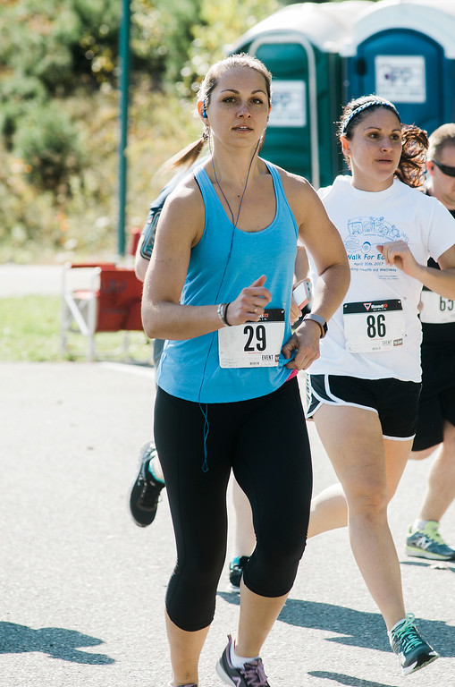 . Runners take part in the Finish Lyme Love your Neighbor Road Race on Saturday, October 21, 2017. The race was to sponsor medical treatment for Brittany Brassard, a 29-year-old Ashburnham resident who is battling Chronic Lyme Disease. SENTINEL & ENTERPRISE / Ashley Green