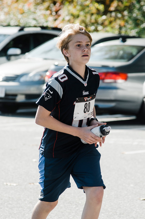 . Nicholas Goodchild takes part in the Finish Lyme Love your Neighbor Road Race on Saturday, October 21, 2017. The race was to sponsor medical treatment for Brittany Brassard, a 29-year-old Ashburnham resident who is battling Chronic Lyme Disease. SENTINEL & ENTERPRISE / Ashley Green