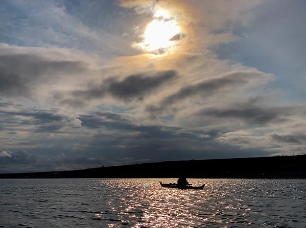 Kayak silhouette, Jurmo, Finland