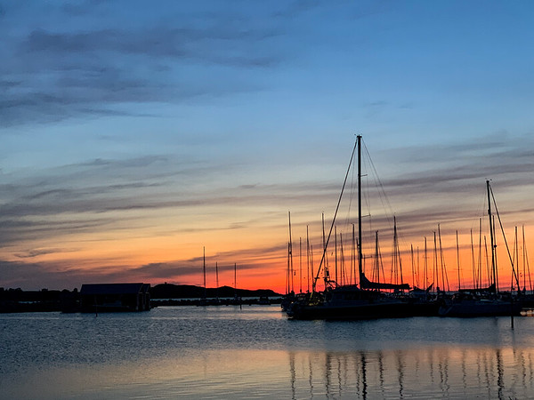 Sunset on Jurmo harbour, Finland