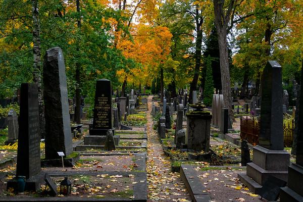 Helsinki Cemetery in the Fall