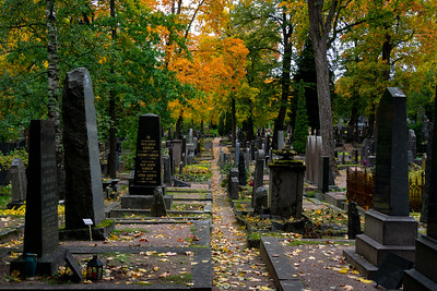 Helsinki Cemetery in the Fall
