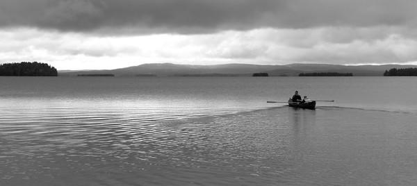 Rowing on Yli-Kitka