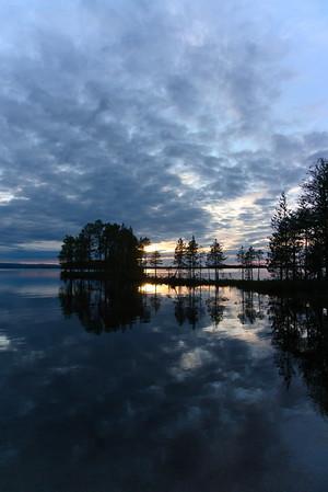 Sunset near Kuusamo