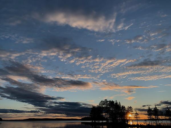 Sunset on Yli-Kitka
