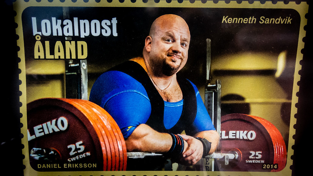 Aland Island Powerlifter Stamp