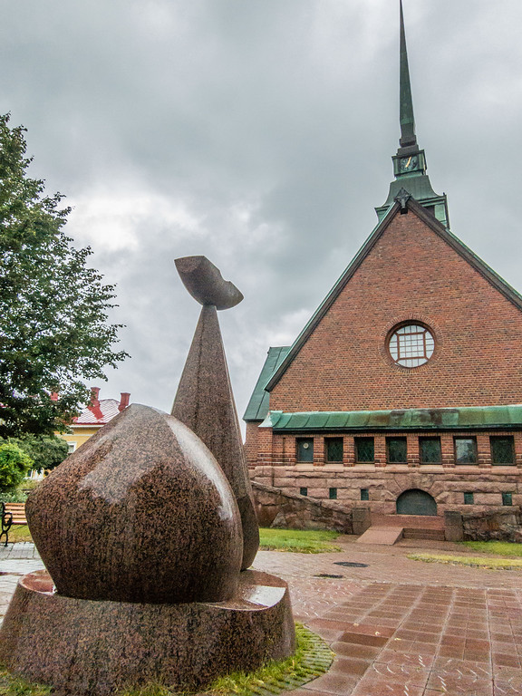 Whale Statue Mariehamn Church