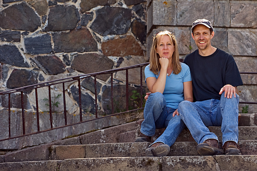 Wednesday, July 7, 2010<br /> <br /> Lisa & I, at The King's Gate, Suomenlinna, last week.  (Photo by Ian)<br /> <br /> Today will likely be my last post from Finland, so I am posting a number of various, random shots.