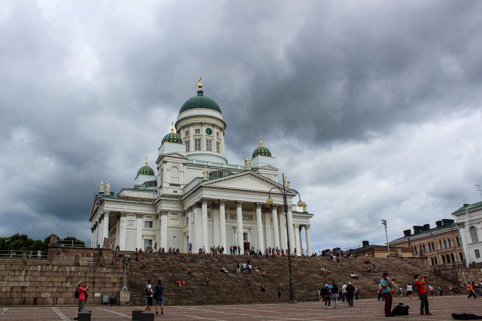 helsinki in 24 hours: spend some time people watching at helsinki cathedral
