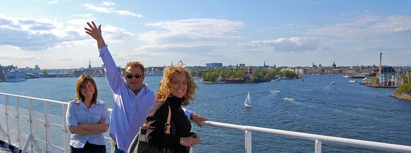 Leaving Stockholm bound for Helsinki Finland