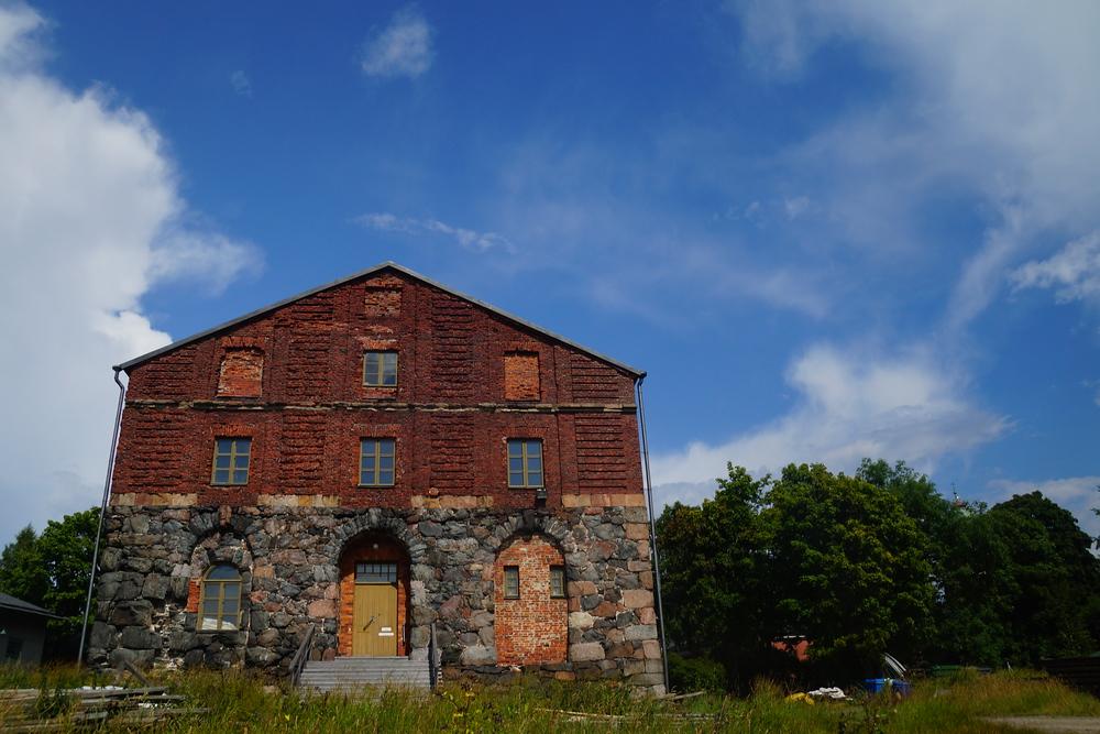 Building located in Suomenlinna, Finland