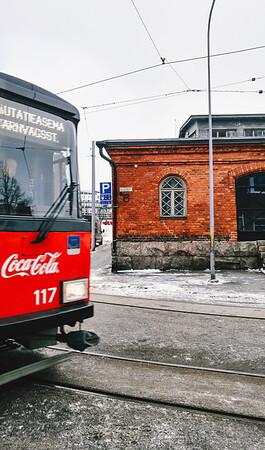 Building in the Katajanokka neighbourhood in Helsinki, Finland.