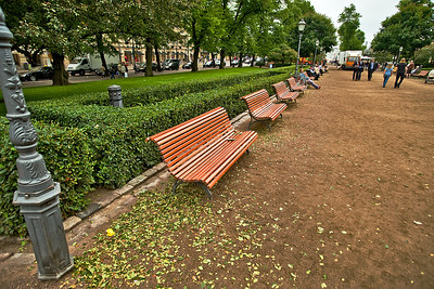 Esplanadi Park - heading towards the Kauppatori and waterfront