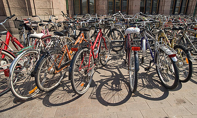 Bikes at the Train Station, Helsinki