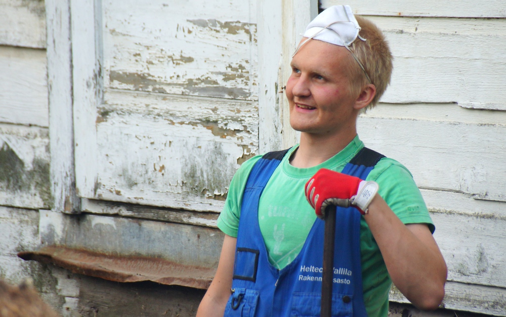 A candid portrait of a Finnish man smiling