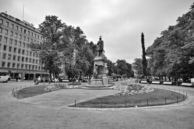 J L Runeberg, the National Poet of Finland - statue in Esplanadi Park