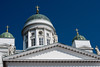 Helsinki's most famous landmark, the Helsinki Lutheran Cathedral at Senate Square