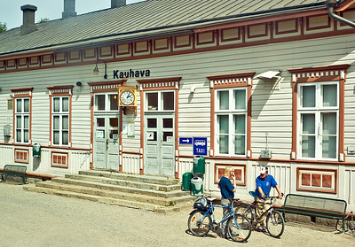 On the way to Oulu, our train made a stop at Kauhava Station, the township where my Great-Grandfather came from.