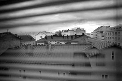 Morning in Oulu, through the blinds.