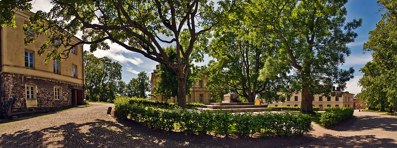The Great Courtyard on Suomenlinna<br /> <br /> The tomb of Augustin Ehrensvard is located center