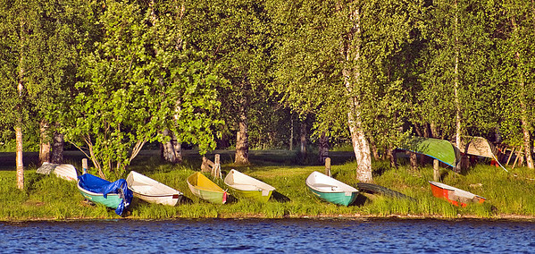 Boats on the Kemijoki