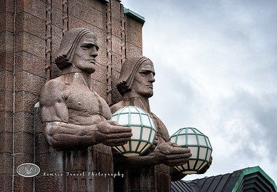 Statues at Helsinki Train Station