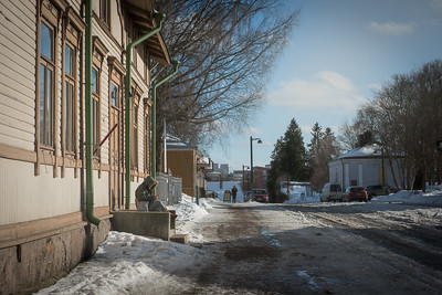 Sitting down in the sun to send a text   Old Town Fortress   Lappeenranta   Finland