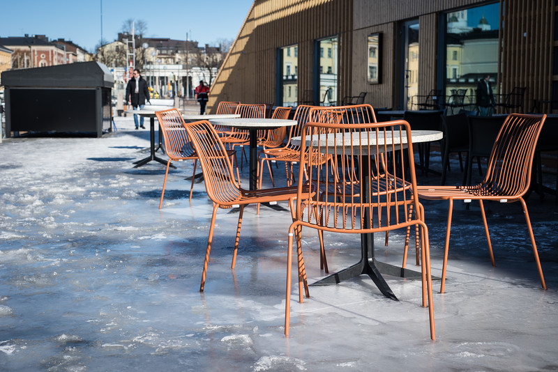 Chairs frozen to the ground | Helsinki | Finland