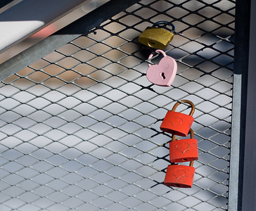 Love locks on a bridge | Helsinki | Finland