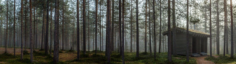 Panorama in Oulanka National Park in Finland.