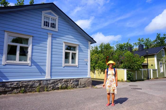 The wooden buildings of Ekenäs