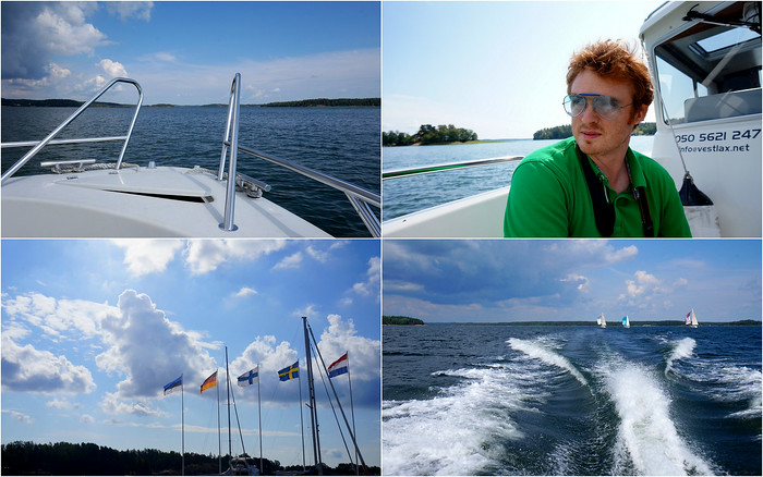 Going boating out on the Baltic Sea.