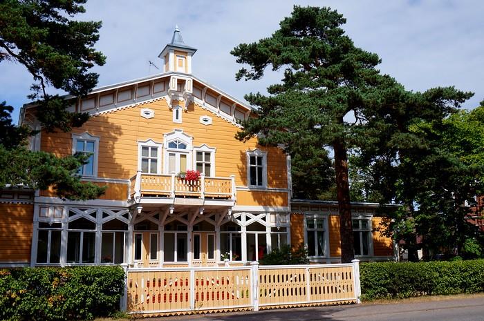 The wooden villas of Hanko in Finland