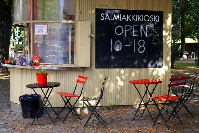 Visiting the salmiakkikioski