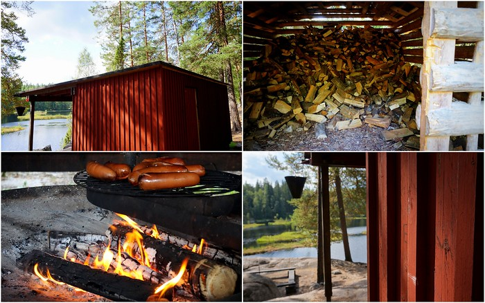 Chopped wood is readily available at Nuuksio National Park.