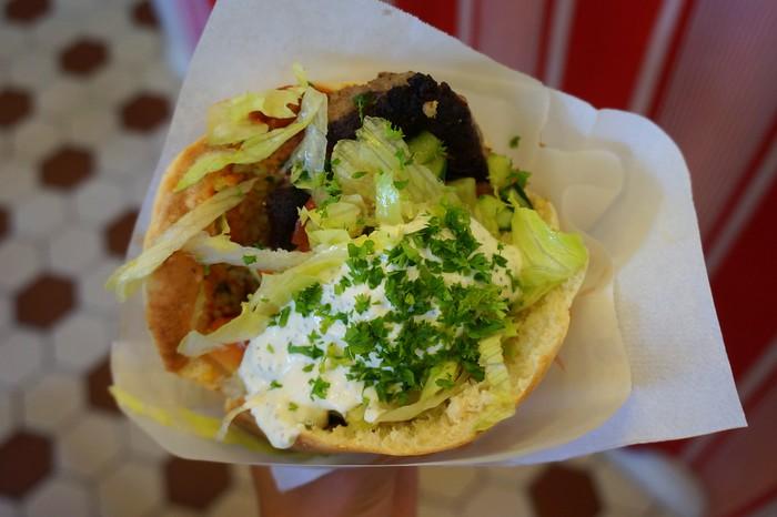 Falafels and kebabs at Fafa's.