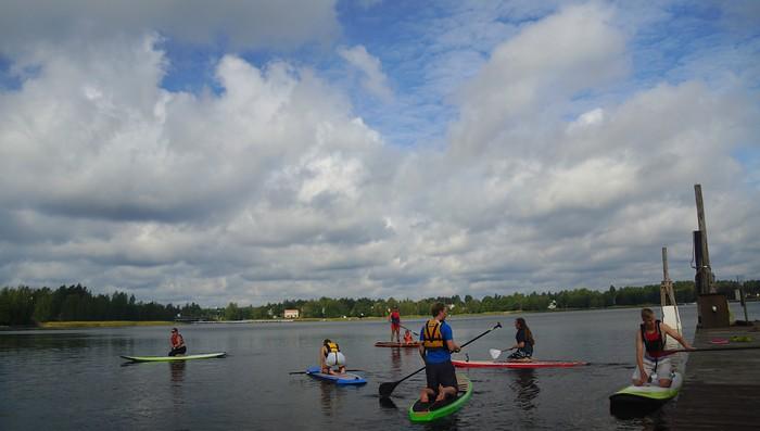 Paddleboarding in Finland