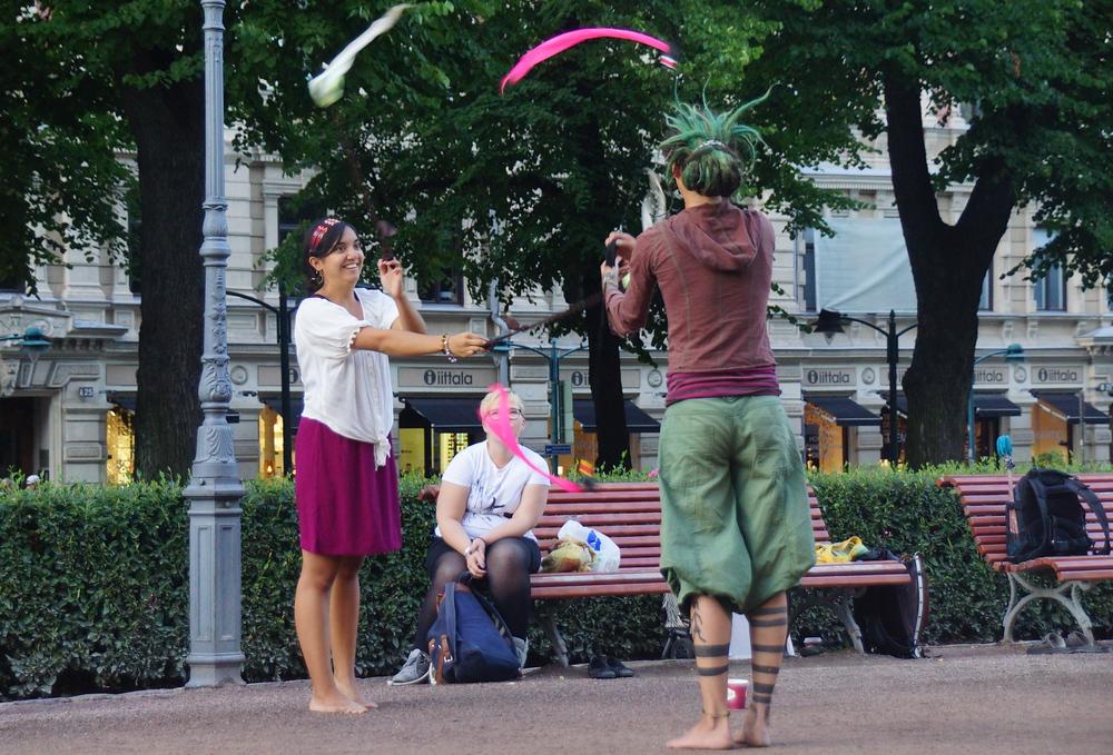 Street performers in Helsinki, Finland