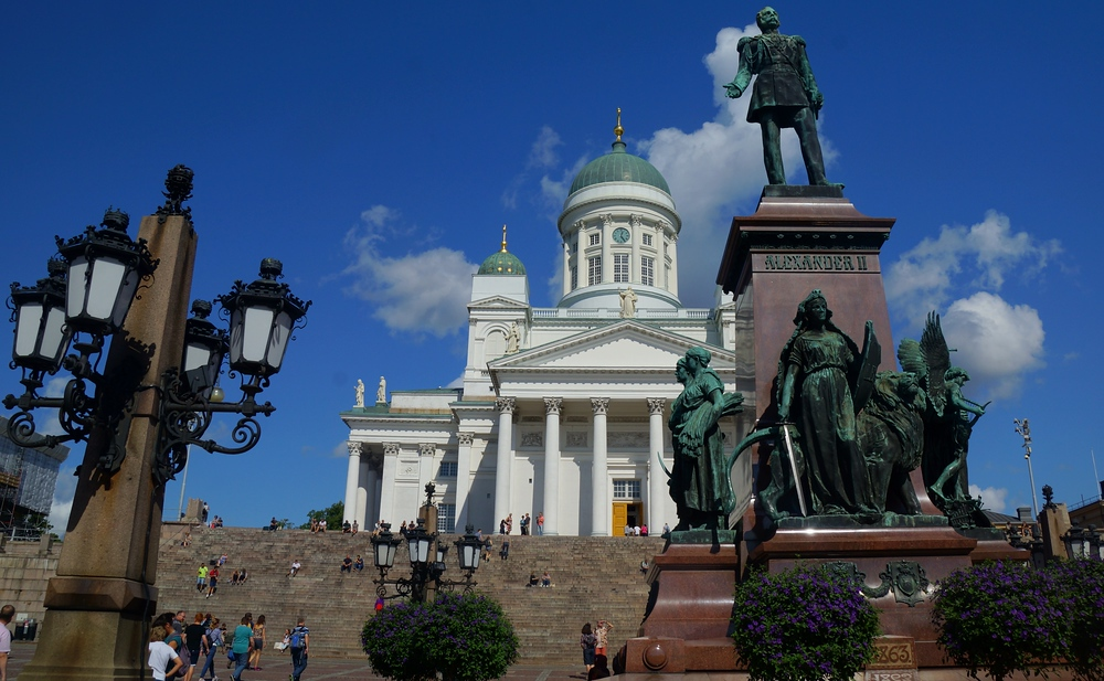 Helsinki Cathedral on a gorgeous summer afternoon in Helsinki, Finland