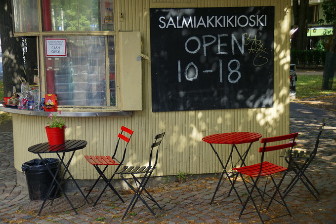Salmiakki Kiosk located in Helsinki, Finland