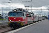 Sr1 3100 with the overnight sleeper service from Moscow at Kouvola on 10 August 2012