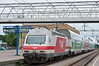 VR Sr2 3230 has run round and is backing on to the stock for 14:00 turku to Helsinki on 7 August 2012