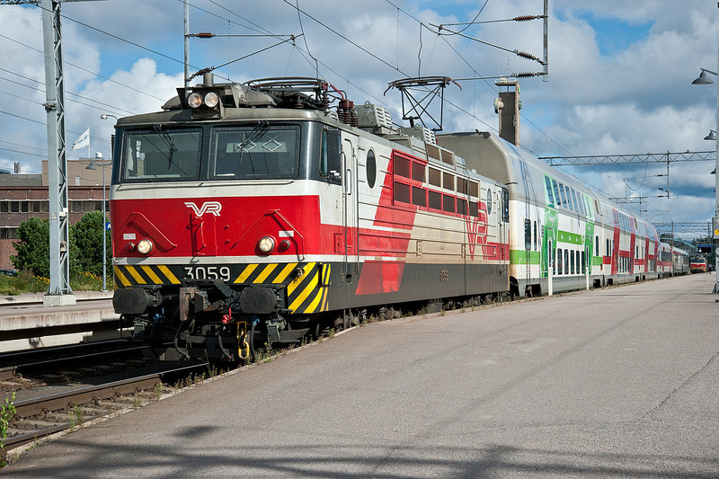 Sr1 3059 leaves for Turku from Tampere on 9 August 2012